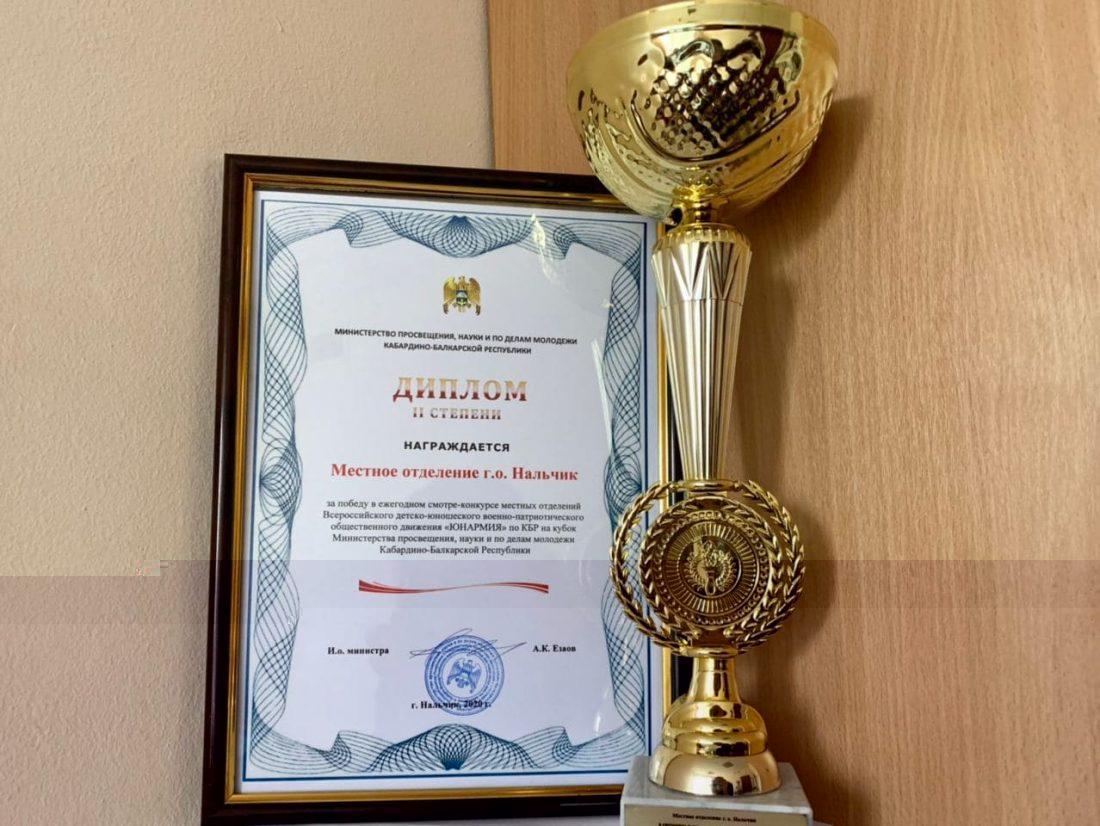 В региональном штабе «ЮНАРМИИ» КБР  определены лучшие местные отделения  ВВПОД «ЮНАРМИЯ»